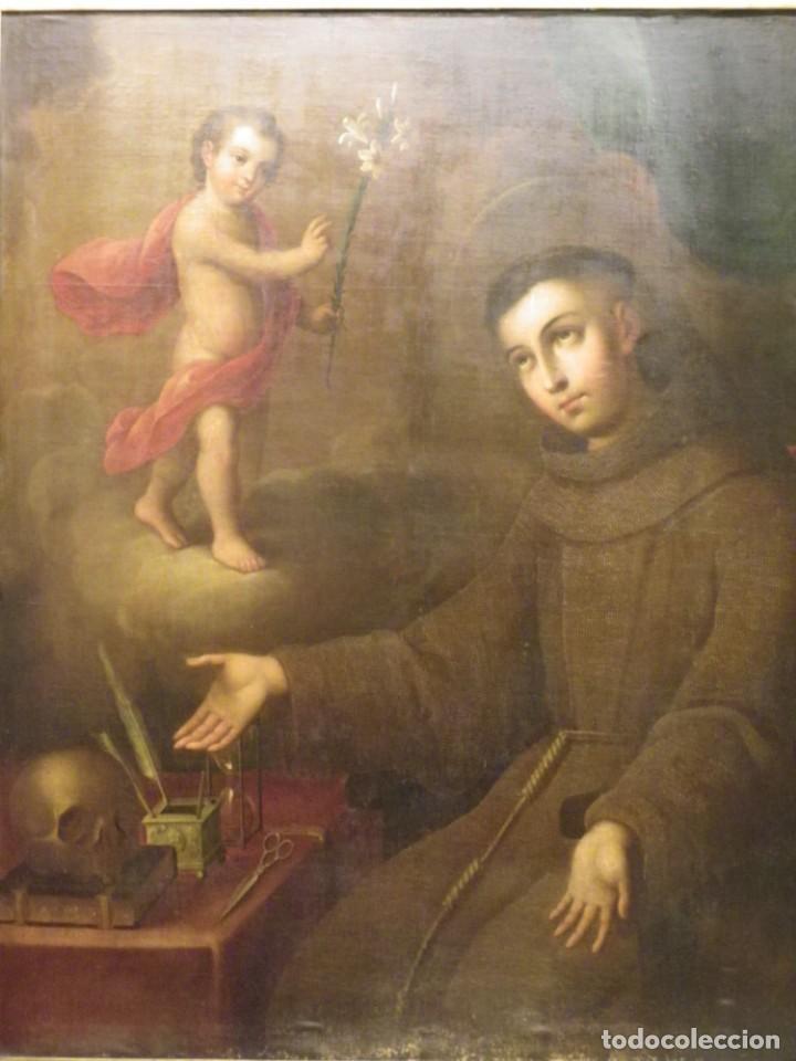 Arte: José de Páez. San Antonio con el Niño Jesús. Pieza para museo - Foto 6 - 195172568