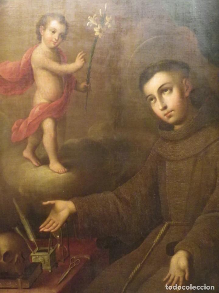 Arte: José de Páez. San Antonio con el Niño Jesús. Pieza para museo - Foto 8 - 195172568