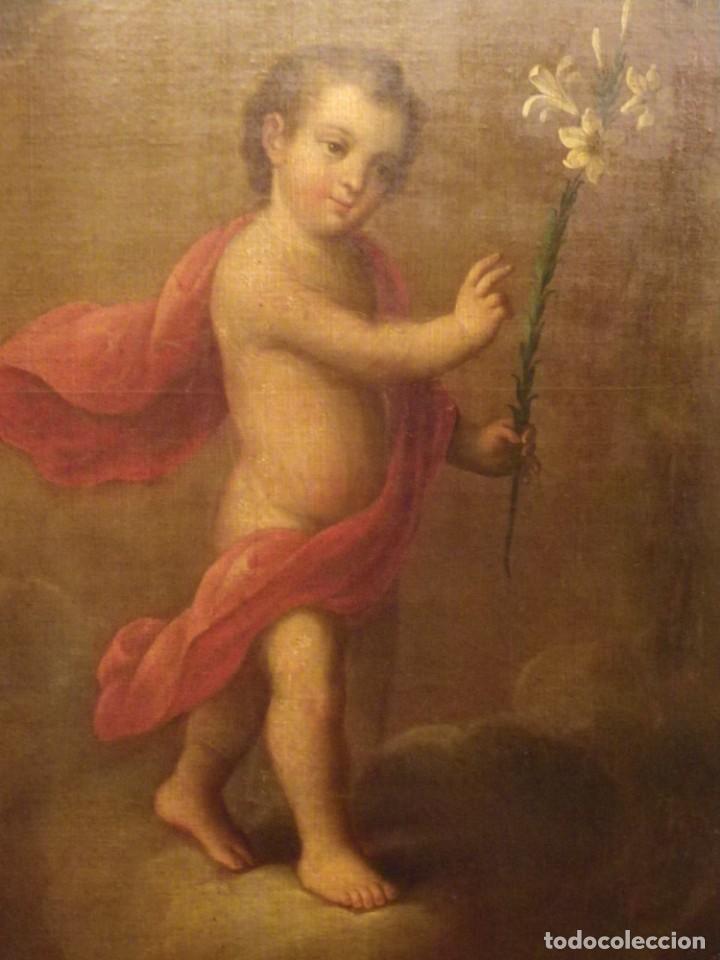 Arte: José de Páez. San Antonio con el Niño Jesús. Pieza para museo - Foto 9 - 195172568