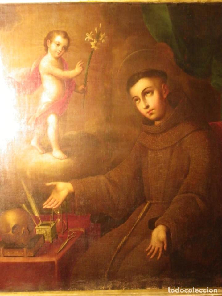 Arte: José de Páez. San Antonio con el Niño Jesús. Pieza para museo - Foto 15 - 195172568