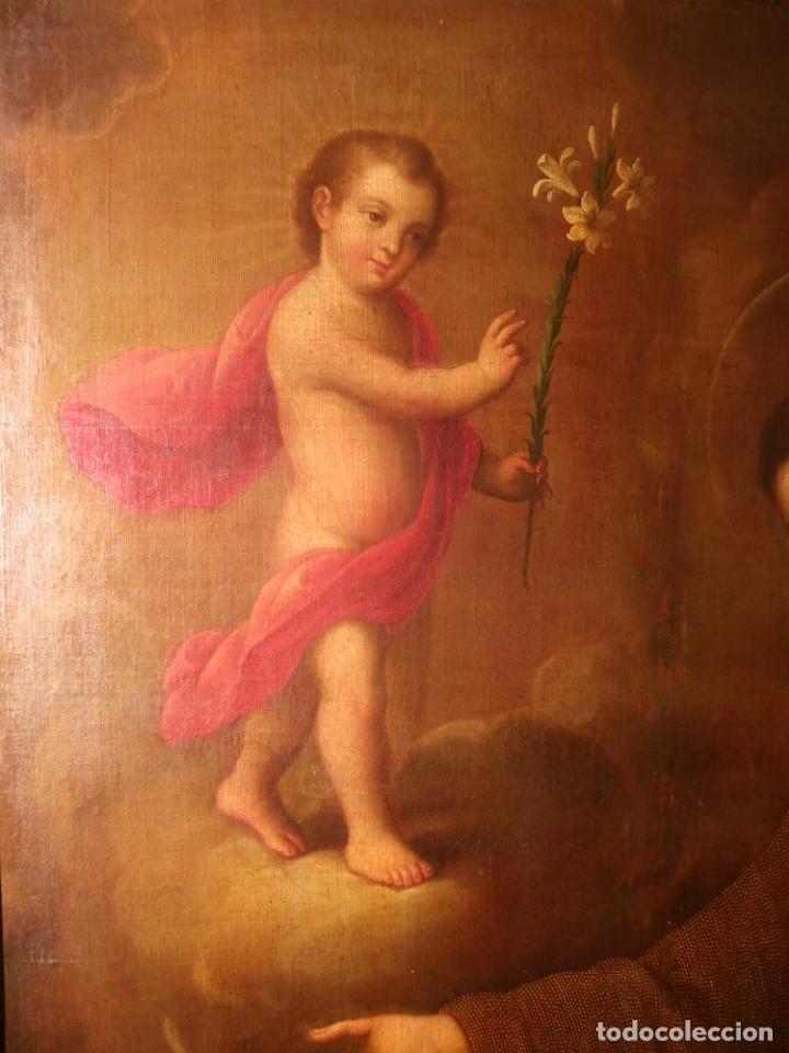 Arte: José de Páez. San Antonio con el Niño Jesús. Pieza para museo - Foto 17 - 195172568