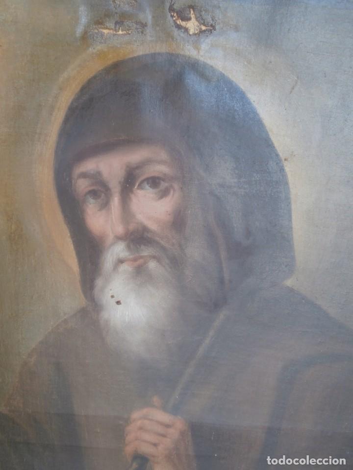 Arte: pintura al oleo con marco original,firmada,enrique moreno rubi,madrid 1847,guadalajara 1882 - Foto 3 - 195173276