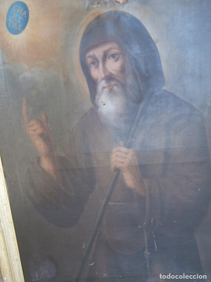 Arte: pintura al oleo con marco original,firmada,enrique moreno rubi,madrid 1847,guadalajara 1882 - Foto 6 - 195173276