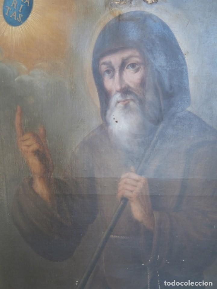 Arte: pintura al oleo con marco original,firmada,enrique moreno rubi,madrid 1847,guadalajara 1882 - Foto 7 - 195173276