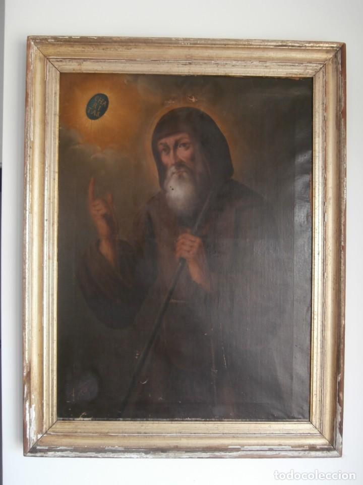 Arte: pintura al oleo con marco original,firmada,enrique moreno rubi,madrid 1847,guadalajara 1882 - Foto 8 - 195173276