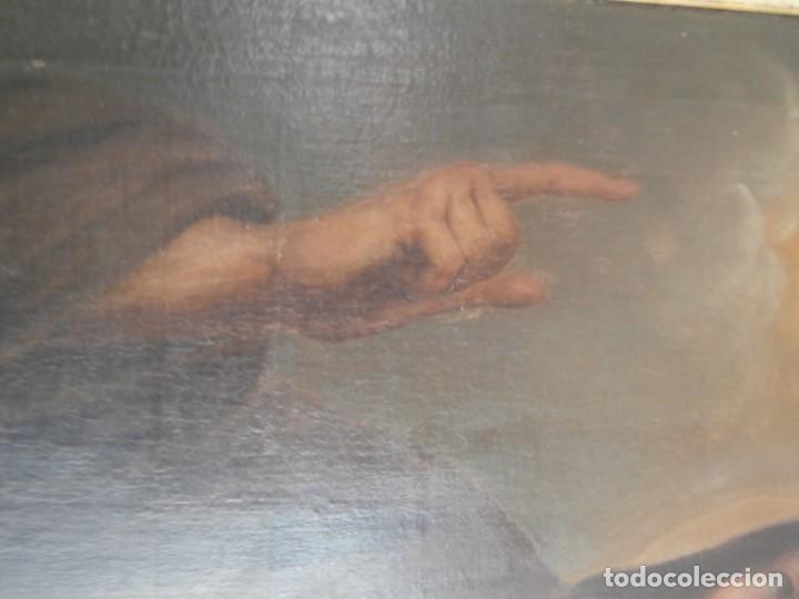 Arte: pintura al oleo con marco original,firmada,enrique moreno rubi,madrid 1847,guadalajara 1882 - Foto 11 - 195173276