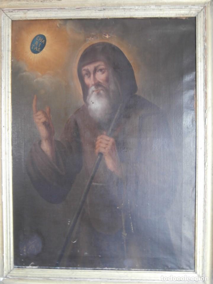Arte: pintura al oleo con marco original,firmada,enrique moreno rubi,madrid 1847,guadalajara 1882 - Foto 14 - 195173276