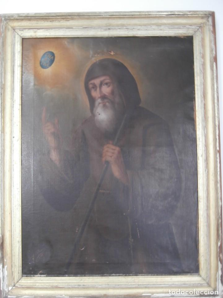 Arte: pintura al oleo con marco original,firmada,enrique moreno rubi,madrid 1847,guadalajara 1882 - Foto 15 - 195173276