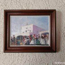 Arte: ÓLEO SOBRE LIENZO. ESCENA FIESTA REGIONAL.FIRMADO SERRA SERRA. Lote 195178351