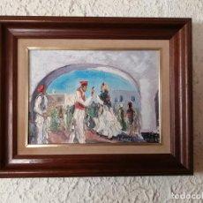 Arte: ÓLEO SOBRE LIENZO. ESCENA FIESTA REGIONAL.FIRMADO SERRA SERRA. Lote 195178965