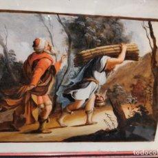 Arte: OLEO SOBRE CRISTAL SIGLO XIX. Lote 195184642