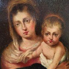 Arte: OLEO SOBRE TABLA VIRGEN SIGLO XIX. Lote 195185332