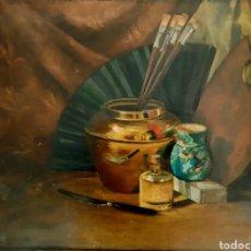 Arte: ÓLEO SOBRE LIENZO FIRMADO E.T.TINN 1895 .( ESCUELA INGLESA ). Lote 195188050