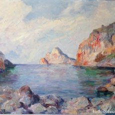 Arte: FERRAN FABRÉ BERTRAND (BARCELONA 1914) OLEO SOBRE TABLA DISCÍPULO DE RAMON NADAL MALLORCA PAISAJE. Lote 195200685