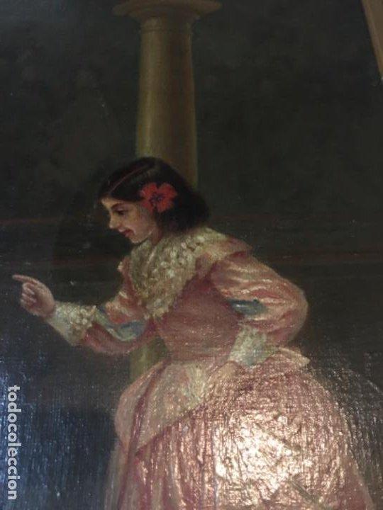 Arte: (M) LIENZO SOBRE TELA FIRMADO C. ALBERICIO 19.. NIÑA CON PERRO ENMARCADO 63X53 OLEO 50X40 cm. - Foto 4 - 195206823