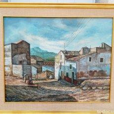 Arte: JUAN MONTESINOS MALDONADO - OLEO SOBRE LIENZO - IMPORTATE OBRA DE TEMA RURAL - DE GRAN DETALLE. Lote 195209440