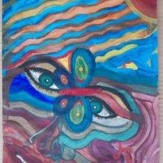 Arte: ANTONI MARTÍ (SEUDONIMO) CASSERRES, 1960 - TÉCNICA MIXTA SOBREPAPEL - 33 X 28,5 - CERTIFICADO. Lote 189405970