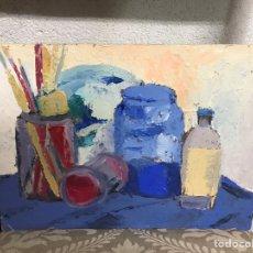 Arte: PINTURA AL ÓLEO SOBRE CARTÓN SIN FIRMA. Lote 195210461