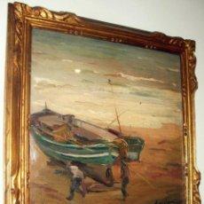 Arte: ALEXANDRE DE CABANYES (VILANOVA I LA GELTRÚ 1877-1972). ÓLEO/TABLA 36 X 36 CM. FIRMADO. CON MARCO.. Lote 195224643