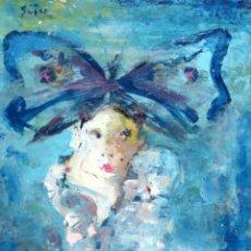 Arte: FRANCESC SUÑER (BARCELONA, 1922 - 1994) OLEO SOBRE TABLA ENTELADA. JOVEN PENSATIVA. Lote 195228495
