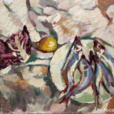 Arte: IGNASI MUNDÓ MARCET (BARCELONA, 1918 - 2012) OLEO SOBRE TELA DEL AÑO 1972. TITULADO LES MAIRES. Lote 195232613