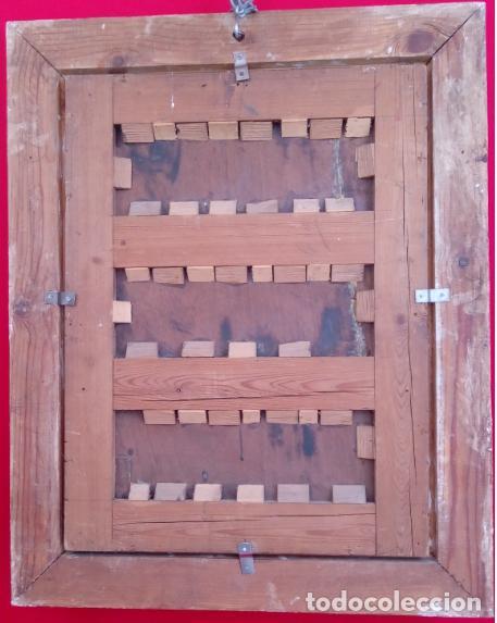 Arte: ÓLEO S/TABLA CON MARCO DE ÉPOCA. SIGLO XVII -SAGRADA FAMILIA-. CÍRCULO DE MURILLO. DIM.- 71X56.5 CMS - Foto 14 - 195234883