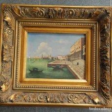 Arte: CUADRO OLEO PUERTO DE VENECIA SIN FIRMA. Lote 195238838