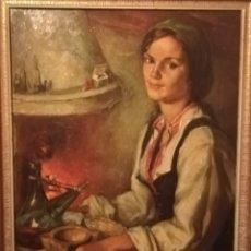 Arte: CUADRO FRANCISCO RIBERA LA GITANA. Lote 195239046