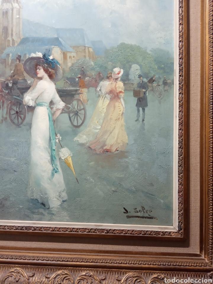 Arte: Pintura al óleo sobre lienzo firmada por Juan de la Cruz Soler - Foto 2 - 195239076