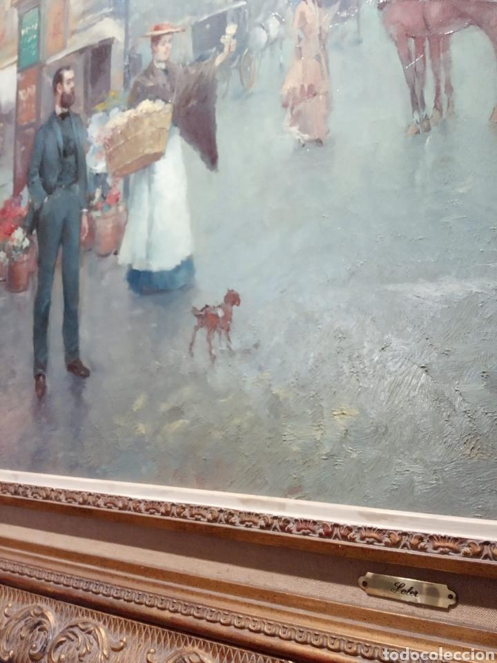 Arte: Pintura al óleo sobre lienzo firmada por Juan de la Cruz Soler - Foto 3 - 195239076