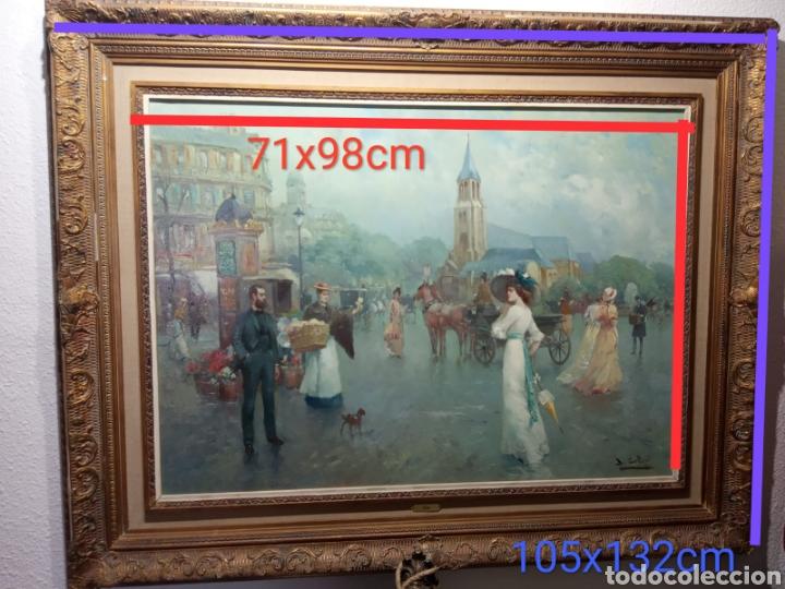 Arte: Pintura al óleo sobre lienzo firmada por Juan de la Cruz Soler - Foto 5 - 195239076