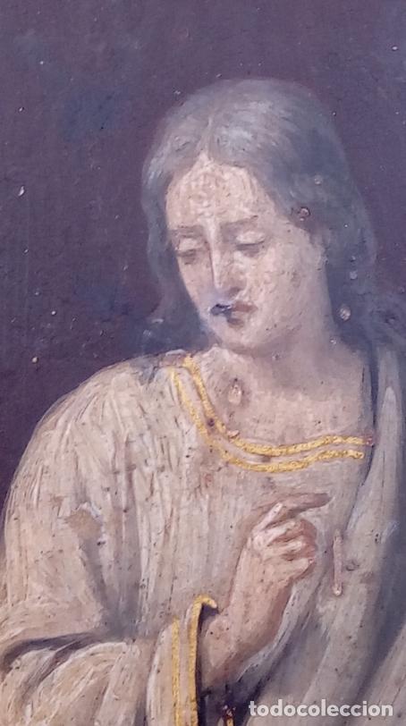 Arte: ÓLEO S/COBRE -ENTIERRO DE CRISTO-. SIGLO XVII -ESC ITALIANA-.CÓNCAVO CONVEXO. 30 CMS DE DIÁMETRO.. - Foto 11 - 195240737