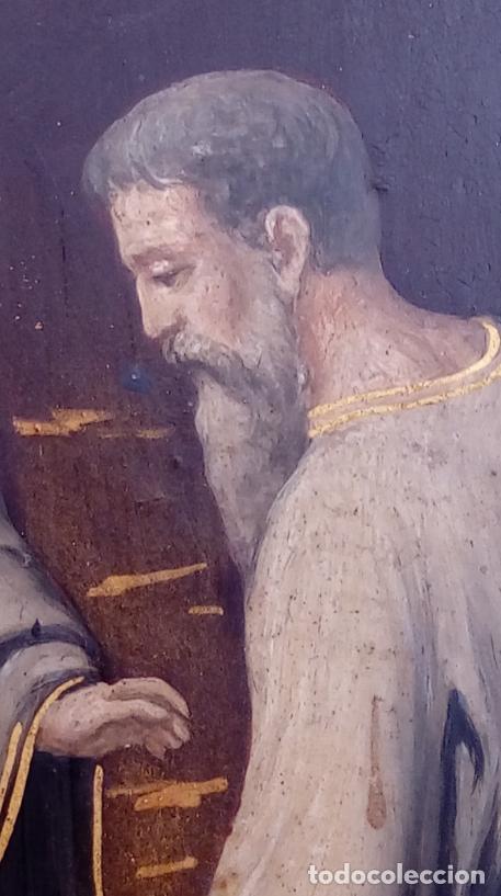 Arte: ÓLEO S/COBRE -ENTIERRO DE CRISTO-. SIGLO XVII -ESC ITALIANA-.CÓNCAVO CONVEXO. 30 CMS DE DIÁMETRO.. - Foto 12 - 195240737