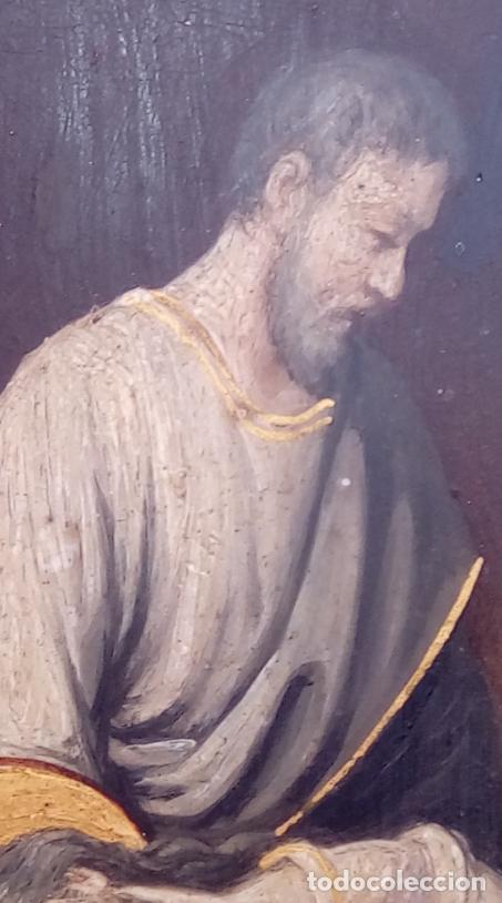 Arte: ÓLEO S/COBRE -ENTIERRO DE CRISTO-. SIGLO XVII -ESC ITALIANA-.CÓNCAVO CONVEXO. 30 CMS DE DIÁMETRO.. - Foto 13 - 195240737