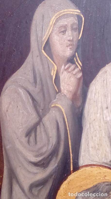 Arte: ÓLEO S/COBRE -ENTIERRO DE CRISTO-. SIGLO XVII -ESC ITALIANA-.CÓNCAVO CONVEXO. 30 CMS DE DIÁMETRO.. - Foto 14 - 195240737