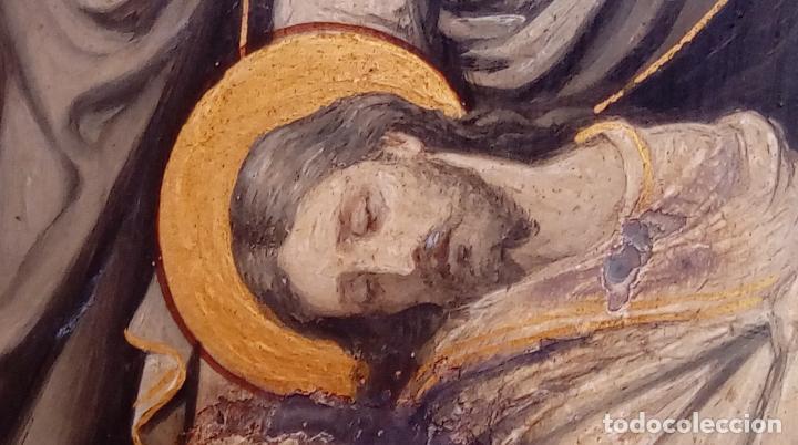Arte: ÓLEO S/COBRE -ENTIERRO DE CRISTO-. SIGLO XVII -ESC ITALIANA-.CÓNCAVO CONVEXO. 30 CMS DE DIÁMETRO.. - Foto 16 - 195240737