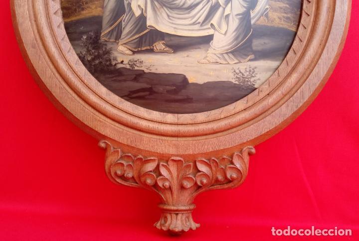 Arte: ÓLEO S/COBRE -ENTIERRO DE CRISTO-. SIGLO XVII -ESC ITALIANA-.CÓNCAVO CONVEXO. 30 CMS DE DIÁMETRO.. - Foto 17 - 195240737