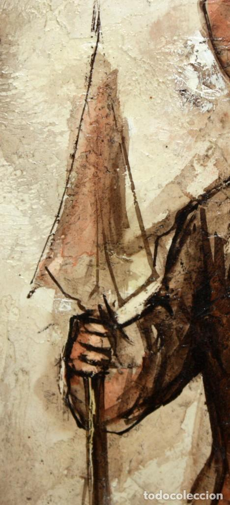 Arte: ROY M. STEINBERG (Usa, Siglo xx) OLEO SOBRE TABLEX FIRMADO. RETRATO DE UN CHIAPA - Foto 4 - 195243482