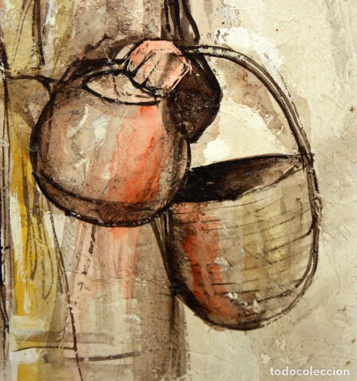 Arte: ROY M. STEINBERG (Usa, Siglo xx) OLEO SOBRE TABLEX FIRMADO. RETRATO DE UN CHIAPA - Foto 5 - 195243482