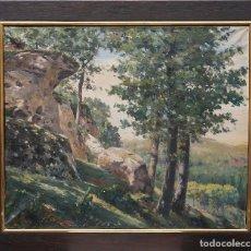 Arte: MANUEL ISIDOR VALLE (TORRES DE SEGRE, 1874 - BARCELONA, 1959) PAISAJE - ÓLEO GRANDE EXPUESTO EL 1923. Lote 195245973
