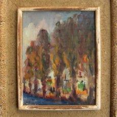 Arte: DIAMANTINO RIERA (1912-PARIS 1961). ÓLEO/TABLA 28 X 22 CM. FIRMADO. AÑOS 30. CON MARCO.. Lote 195249336