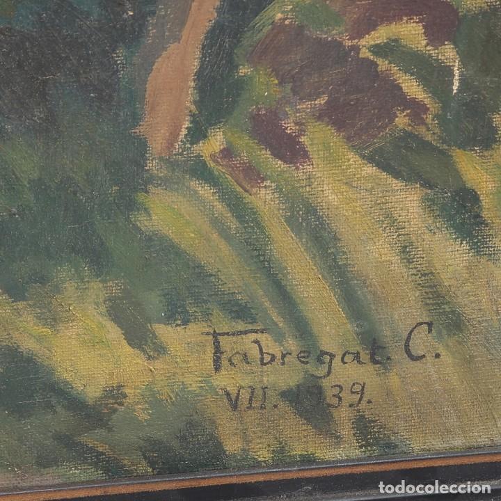 Arte: ÓLEP PINTOR C. FABREGAT - PAISAJE VISTA RURAL - JULIO DE 1939 - OBRA POST-GUERRA - 58 x 69 cm - Foto 3 - 195252310