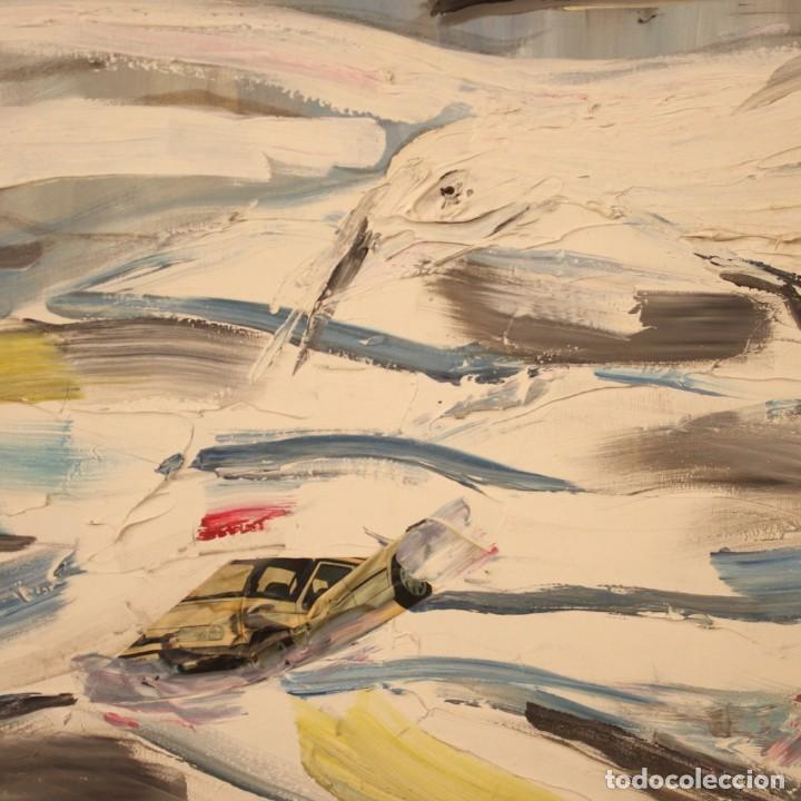 Arte: Pintura francesa bandada de gaviotas en el mar - Foto 4 - 195254853