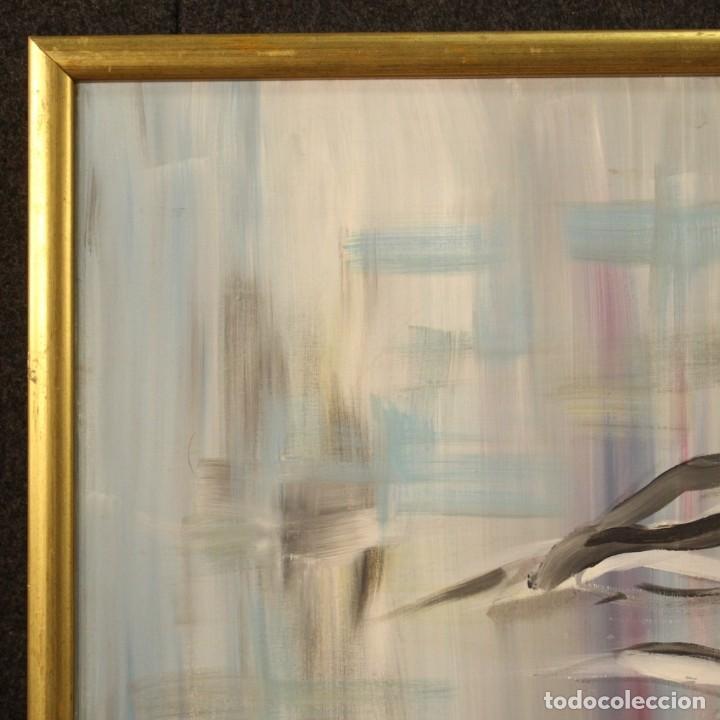 Arte: Pintura francesa bandada de gaviotas en el mar - Foto 6 - 195254853