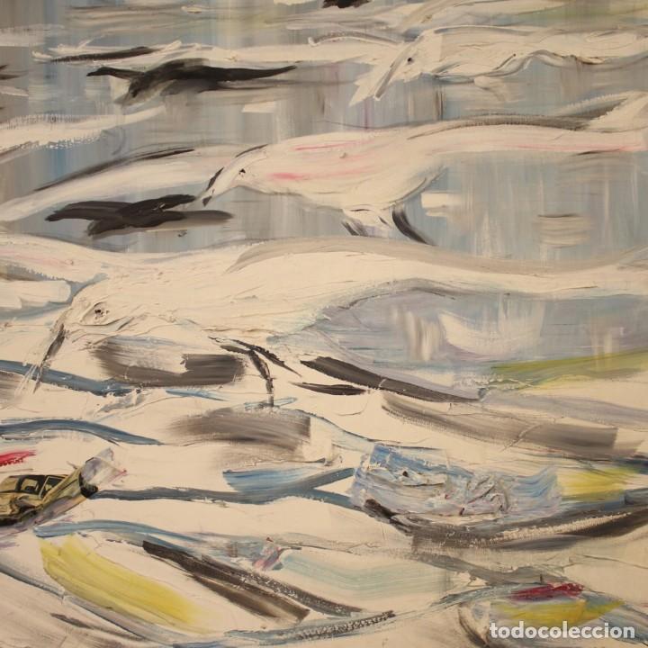 Arte: Pintura francesa bandada de gaviotas en el mar - Foto 10 - 195254853