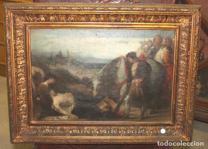CUADRO, JOSE CASADO DEL ALISAL, FIRMADO, OLEO SOBRE TABLA (D8) (Arte - Pintura - Pintura al Óleo Moderna siglo XIX)