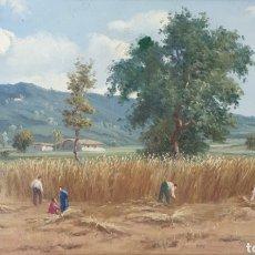 Arte: J.SERRAT CALVÓ - LA SIEGA.OLEO/TELA.FIRMADO.. Lote 189414295