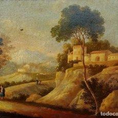 Arte: PAISAJE ROMÁNTICO. ÓLEO SOBRE LIENZO. ESCUELA NAPOLITANA(?) ITALIA. SIGLOS XVIII-XIX. Lote 195270035