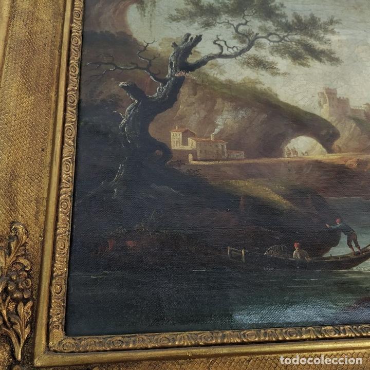Arte: PAISAJE ROMÁNTICO. ÓLEO SOBRE LIENZO. ESCUELA NAPOLITANA (?). ITALIA. XVIII-XIX - Foto 10 - 195273055
