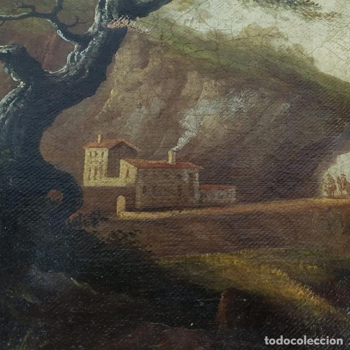 Arte: PAISAJE ROMÁNTICO. ÓLEO SOBRE LIENZO. ESCUELA NAPOLITANA (?). ITALIA. XVIII-XIX - Foto 12 - 195273055